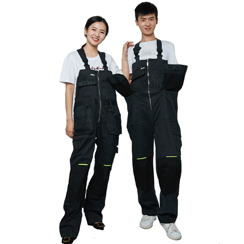 Bib Overalls Men Women Work pants Multi-pocket Design Wear-resistant Hip-hop Working Coveralls Unisex Large Size Work Clothing