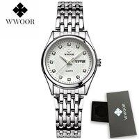 WWOOR Ladies Watches Gold Watch Women Dress Top Brand Women S Fashion Stainless Steel Bracelet Quartz