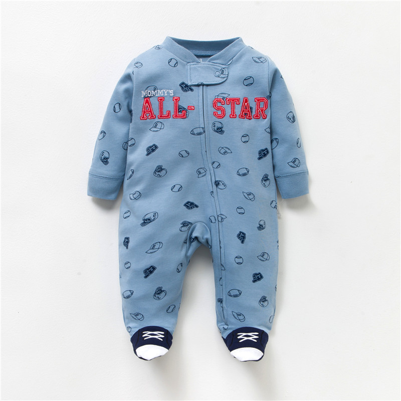 HTB1UJ0Uv98YBeNkSnb4q6yevFXaq Newborn baby pajamas unicorn cotton romper boys clothes overalls romper infants bebes jumpsuit premature infant baby clothes