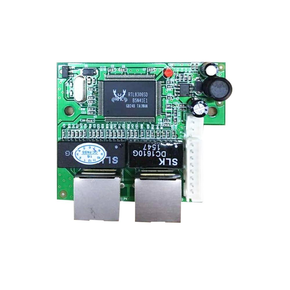 Mini fast 10 100mbps 2 port ethernet network lan hub switch board two layer pcb 2 rj45 1 8pin - Ethernet cable hub 4 ports ...
