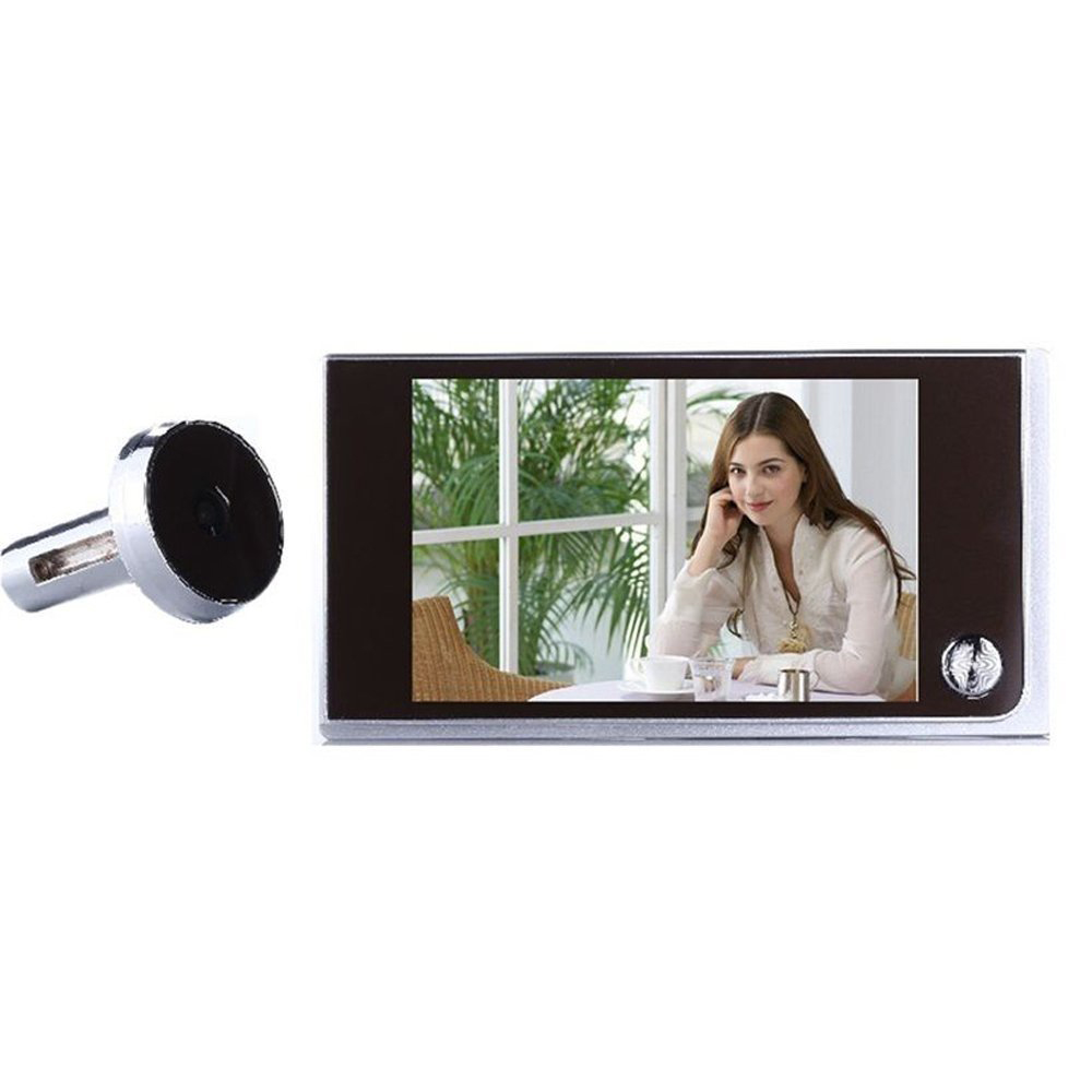 MOOL 2018 New Style 120 degree actual viewing angle 3.5 inch LCD Peephole Viewer Door Eye Doorbell Color IR Camera,EU Plug