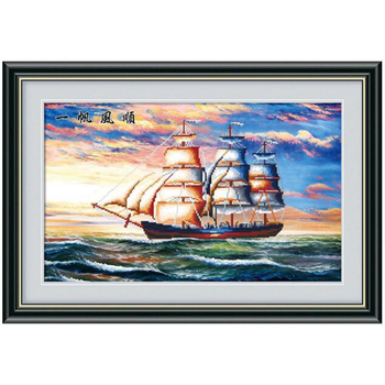New!sailboat Cross Stitch handmade crafts unfinished Rhinestones mosaic embroidery diy 5d Diamond painting home decor YY image