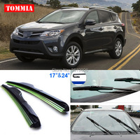 2pcs Front Soft Rubber Windscreen Windshield Wiper Blades For Toyota RAV4 2009 2017