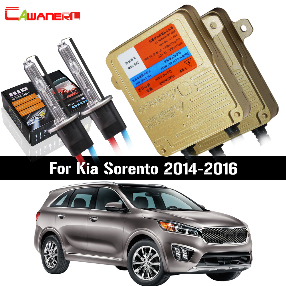 Cawanerl For Kia Sorento 2014 2016 55W H7 HID Xenon Kit AC 3000K 8000K No Error