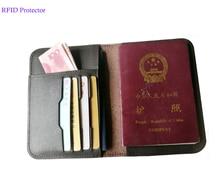 RFID Блокировка паспорта Натуральная кожа обложки на паспорт владельца проездной документ унисекс бумажник держатель карты