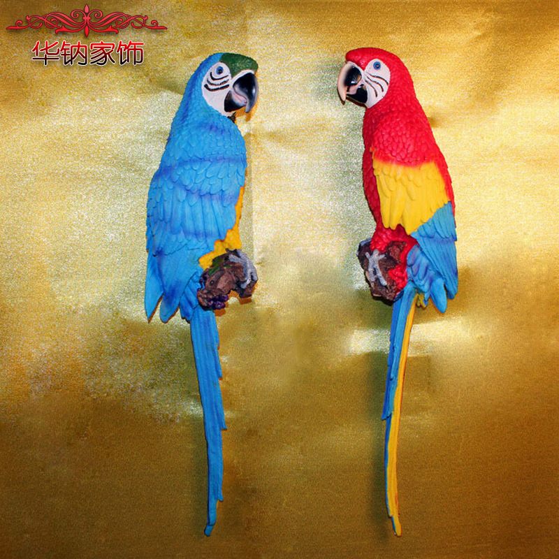2016 Direct Selling Limited Home Furnishing Jewelry Ornaments Macaw Pastoral Garden Color Colorful Parrot Resin
