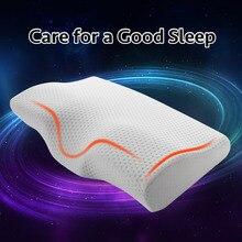 YR подушка из пены с эффектом памяти для сна, шейные подушки в форме бабочки, подушки с эффектом памяти, расслабление шейного отдела позвоночника, для взрослых, медленное восстановление