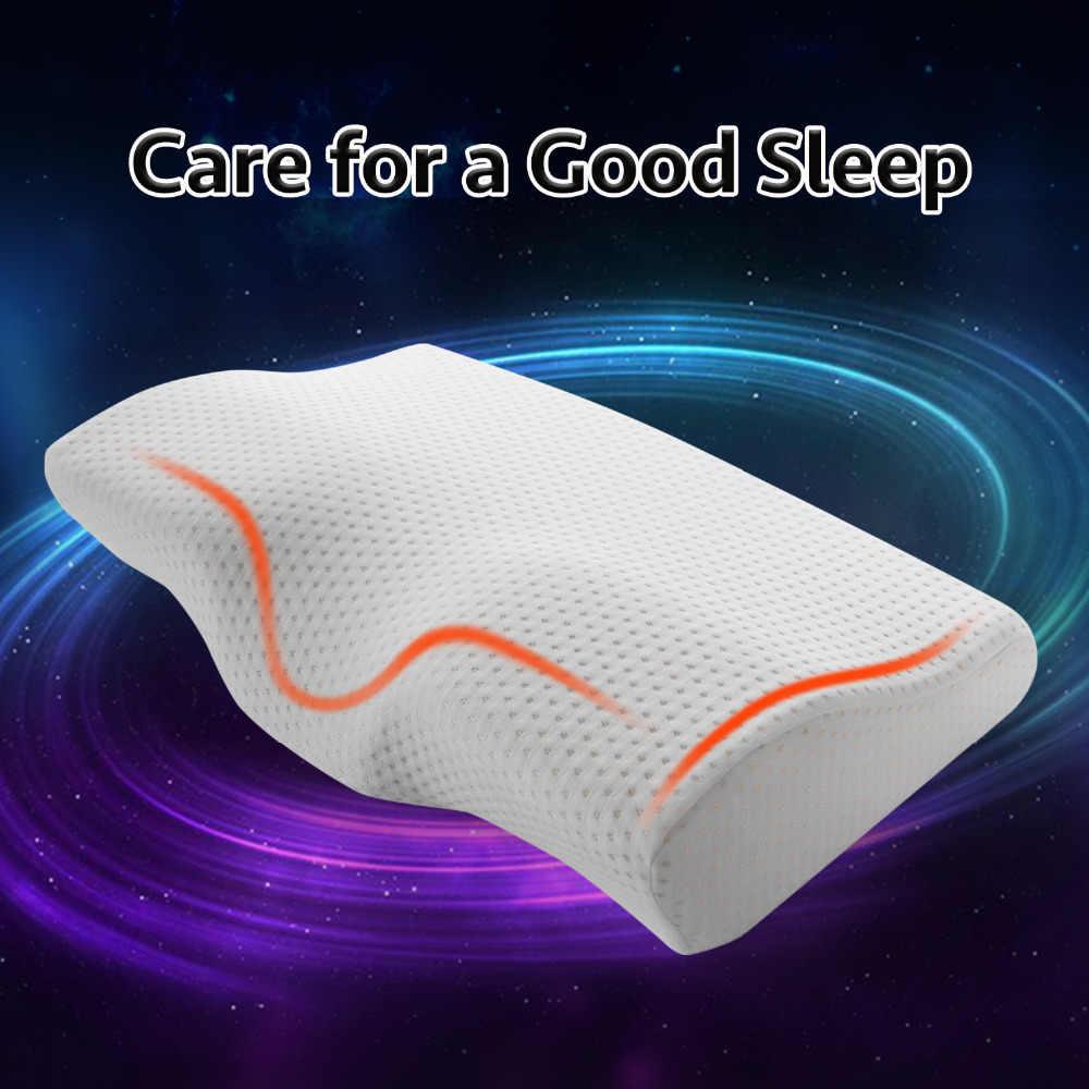 Almohada de espuma de memoria YR para dormir almohadas cervicales en forma de mariposa almohadas de memoria relajar la columna Cervical adulto rebote lento