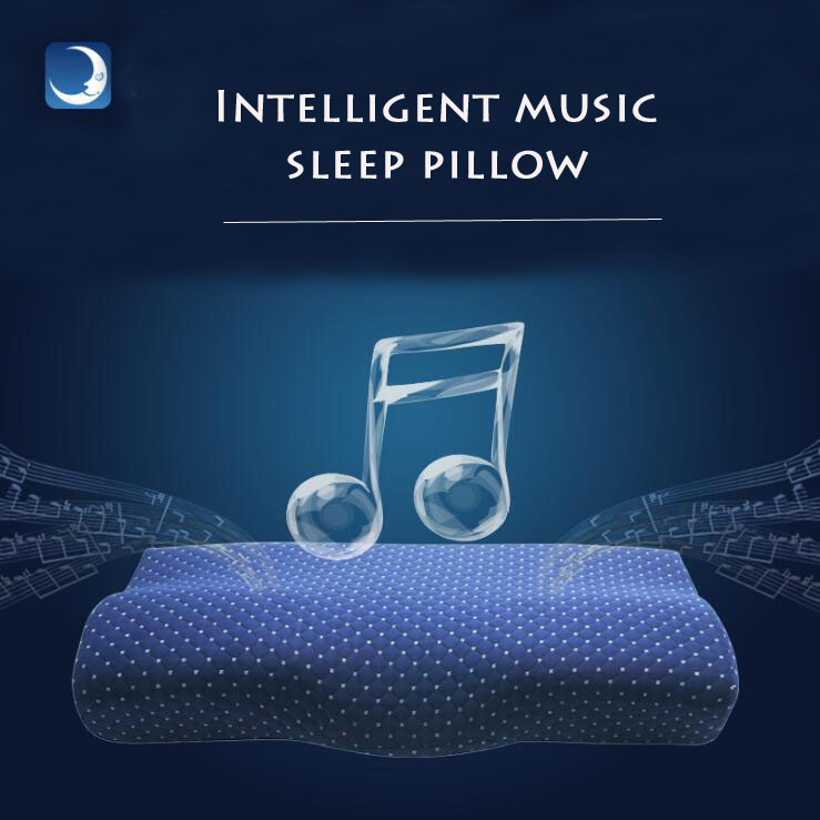 Promote Side Sleeper Pillows Orthopedic Comfort Memory Foam Sleeping APP Smart Music Pillow