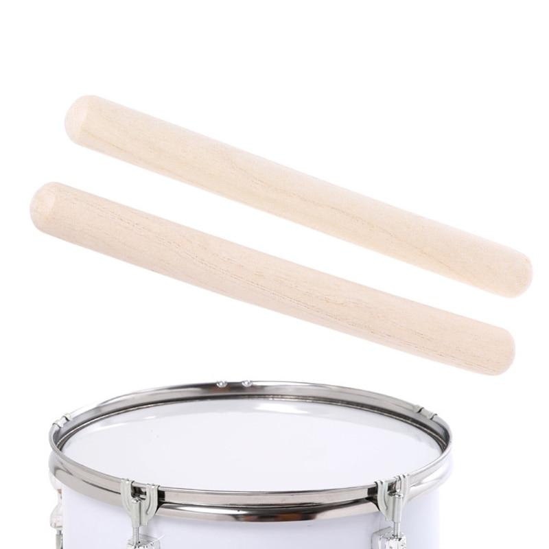 1 пара деревянные ритм палочки музыкальный инструмент игрушка для