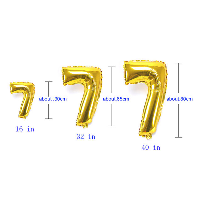 Online Shop Foil Balloons Numbers 16 32 40 Inches Inflatable Helium