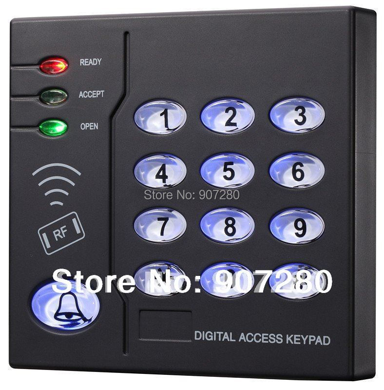 Brand New 6,500 user Proximity RFID 125Khz EM(ID) Card Plastic Access Control Keypad, Standalone Access Control proximity rfid 125khz em id card access control keypad standalone access controler 2pcs mother card 10pcs id tags min 5pcs