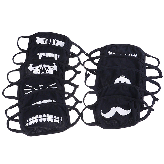 10 Styles Cute Anime Mouth Muffle Face Mask Emotiction Masque Cartoon Masks Anti Dust Mask Kpop Cotton Mouth Mask 1PC