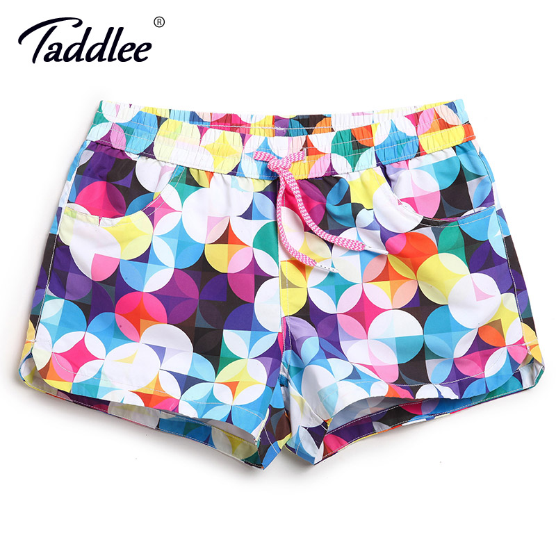 Taddlee Brand Women   Board   Beach   Shorts   Swimwear Swim Boxer Trunks Quick Dry Large Size Sports Running   Shorts   Surfing Bottoms New