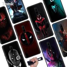 Marvel Deadpool Spiderman Black Soft Case for Oneplus 7 Pro 7 6T 6 Silicone TPU Phone Cases Cover Coque Shell