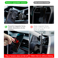 Baseus Magnetic Car Phone Holder For iPhone Samusung 360 Rotation Air Vent Mount Mobile Phone Holder Stand for Car Holder 2