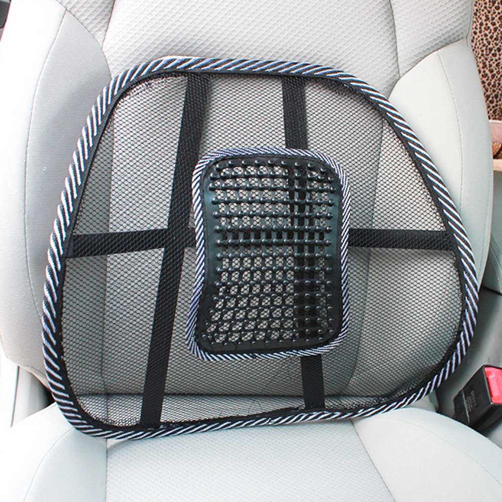 Universal Car Cushion Pad Support Massage Chair Lumbar Waist Cushion Mesh Ventilate for Home Office Car