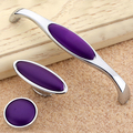 Exclusive New Purple Jade Wardrobe Pulls Modern Simple High-grade Cabinet Zinc Alloy Drawer Knobs 1005