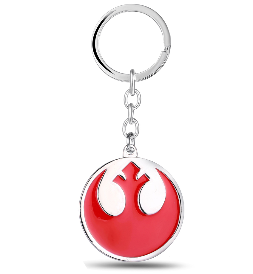 MS JEWELS Movie Fans Gifts Jewelry Star Wars Logo Keychain Metal Key Rings For Gift Chaveiro Key Chain