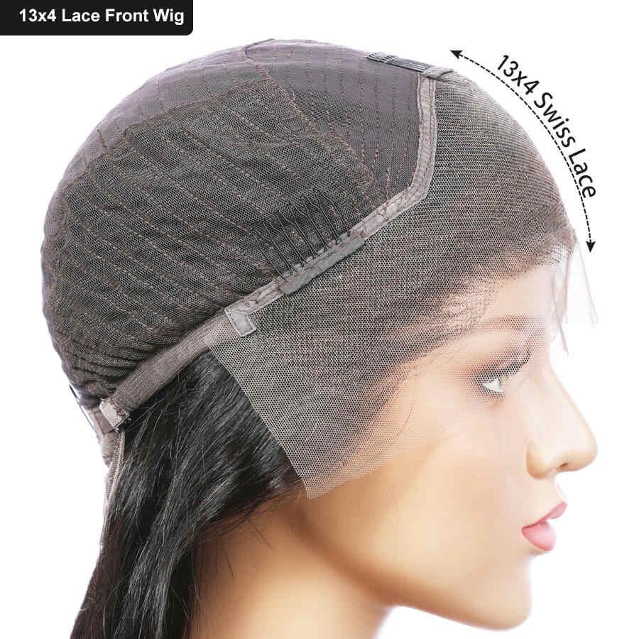 Elva saç sahte kafa derisi dantel ön İnsan saç peruk ön koparıp bebek saç ile kıvırcık 13x6 dantel ön insan saç peruk siyah kadınlar için