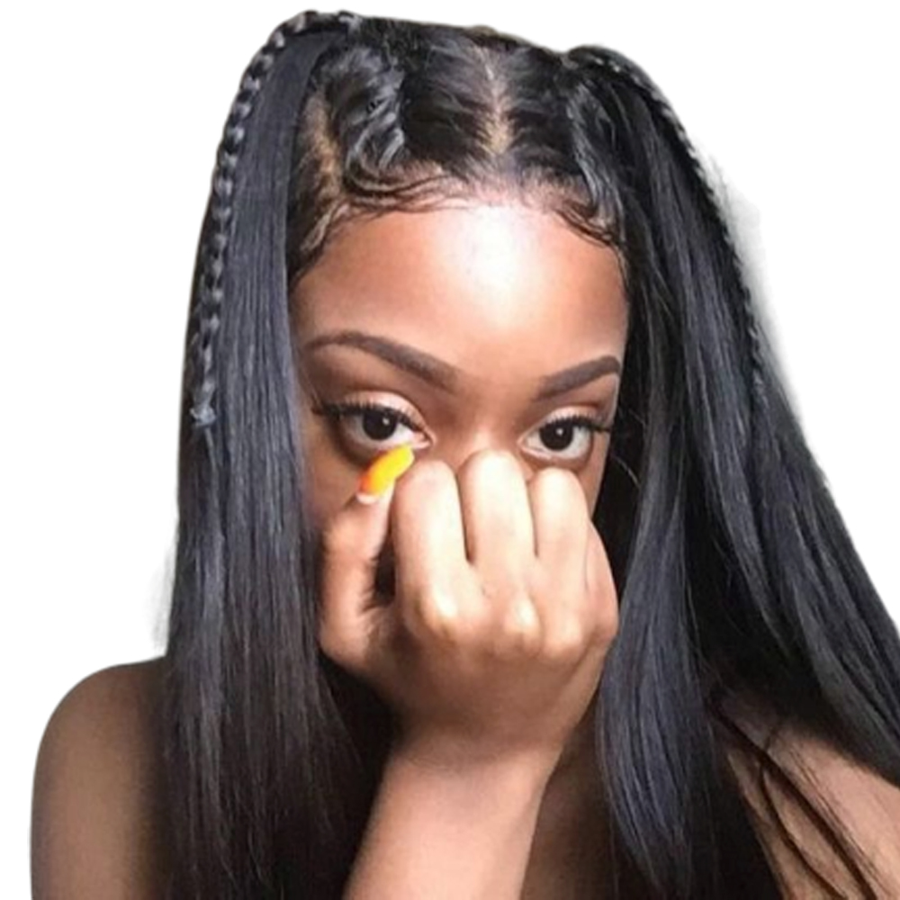 Sapphire Lace Wigs 4 4 Lace Front Human Hair Wigs For Women Black Pre Plucked Peruvian