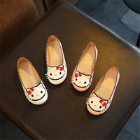 Read More Spring Autumn Baby girls shoes Girls Shoes Flat Shoes with hello  kitty 3kinds 2colors 21-25 TX06 50017c712f19