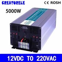 P5000 122 5000w inverter pure sine wave 12v to 220v voltage converter,solar inverter LED Display inversor