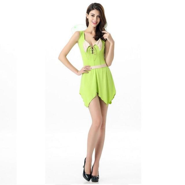 65c55145f Newest Europe America Fairy Kingdom Princess Costumes Cosplay Beautiful  Emerald Green One-piece With Belt