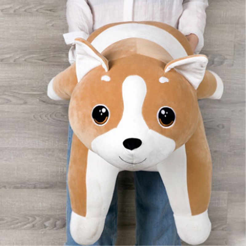 Fancytrader Pop Lovely 100cm Big Soft Cartoon Corgi Plush Toy 39inches Lying Stuffed Animal Dog Pillow Kids Play Doll Gift stuffed animal 120 cm cute love rabbit plush toy pink or purple floral love rabbit soft doll gift w2226