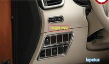 купить Bright Style For Nissan Rogue / X-Trail x trail T32 2014 2015 2016 Odometer + Switch Console Dashboard Button Cover Trim 2 Pcs по цене 983.48 рублей