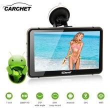 CARCHET Navegación GPS Del Coche de 7 pulgadas HD 1080 P 512 MB RAM 8 GB 2.4 GHz WIFI DVR con Pantalla Táctil FM GPS Dash Cam Android Mapa de Europa