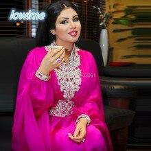Wunderschöne Chiffon Lange A-linie Arabisch Dubai Stil Abendkleider mit Perlen Kristalle Hals Taille Abendkleider Abiye Kaftan Prom