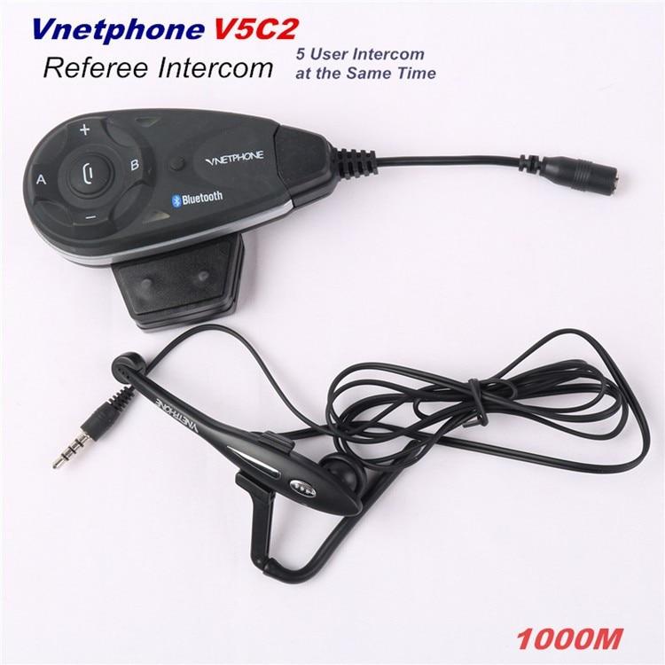 Hand Free Football Refree Full-duplex Bluetooth Intercom Headset Interphone Motocycle Interfone For Helmet
