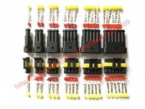 60 комплектов AMP Tyco Superseal 1,5 комплект 1/2/3/4/5/6 Pin Женский Мужской Водонепроницаемый Электрический провод кабель автомобильный разъем