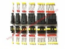 60 Sets Amp Tyco Superseal 1.5 Kit 1/2/3/4/5/6 Pin Vrouw Man Waterdichte elektrische Draad Kabel Automotive Connector Auto Plug