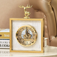 Простые современные высококлассные часы европейская гостиная Металл креативный настольные часы оболочка олень часы Маятник стол товары
