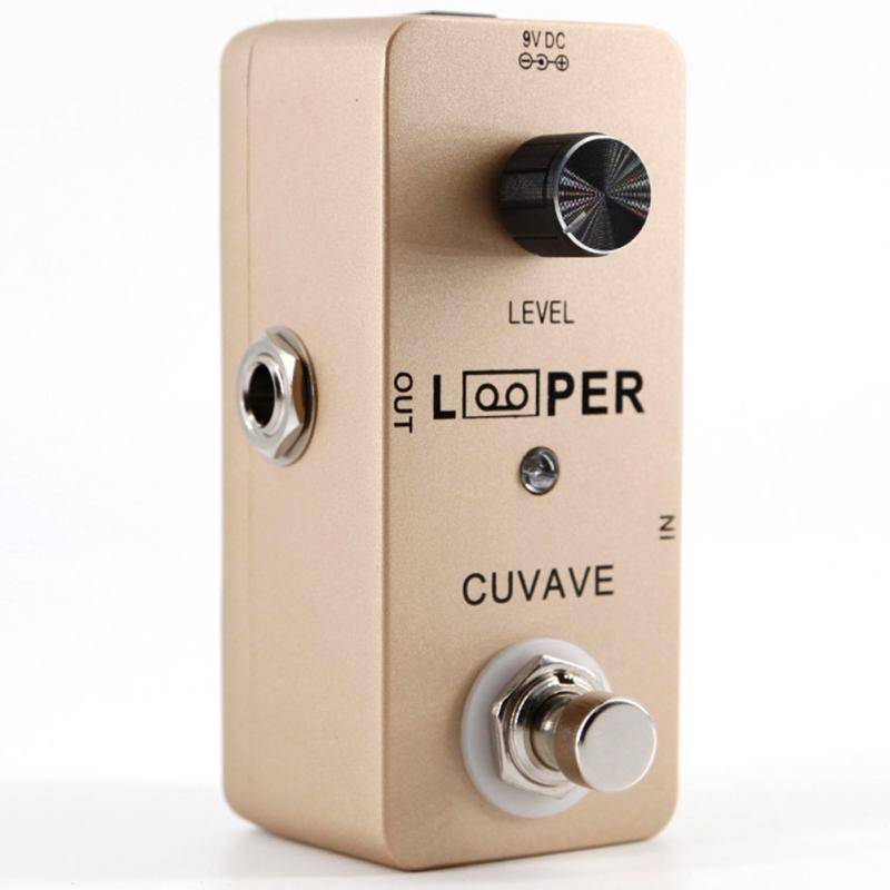 New Guitar Pedal Looper LED Indicator Electric Guitar Effect Pedal Recording Mini Looper Guitar Parts #108- loop effect pedal 3 way looper switcher guitar effect pedal true bypass electric guitar parts accessories