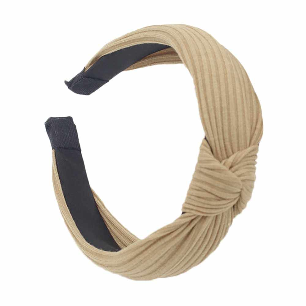 Sweet Headband Twist Hairband Bow Knot Cross Tie Wild Headwrap Hair Band Hoop