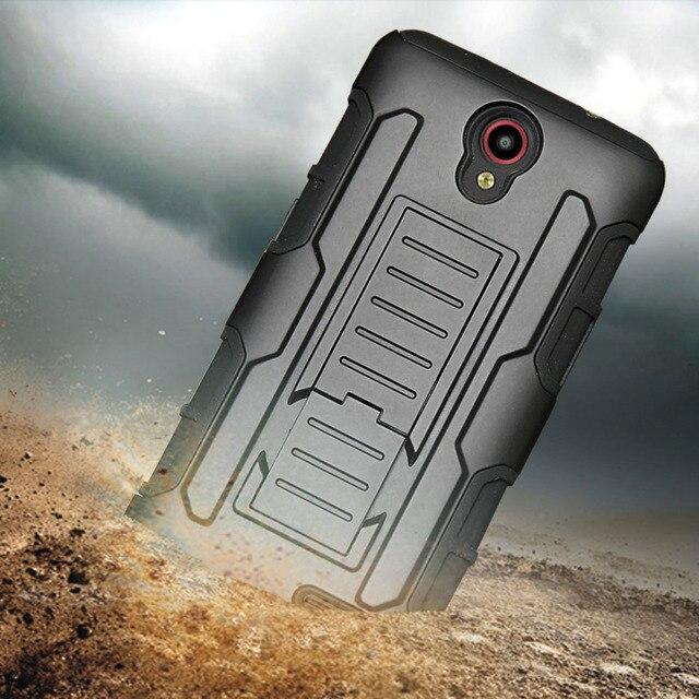 Dual Layer Armor Case + Belt Clip Holster Cover For ZTE Prestige 2 N9136/N9132/Maven 2 3 Z835 Z831/Avid Trio Z828/Prelude+ Z851