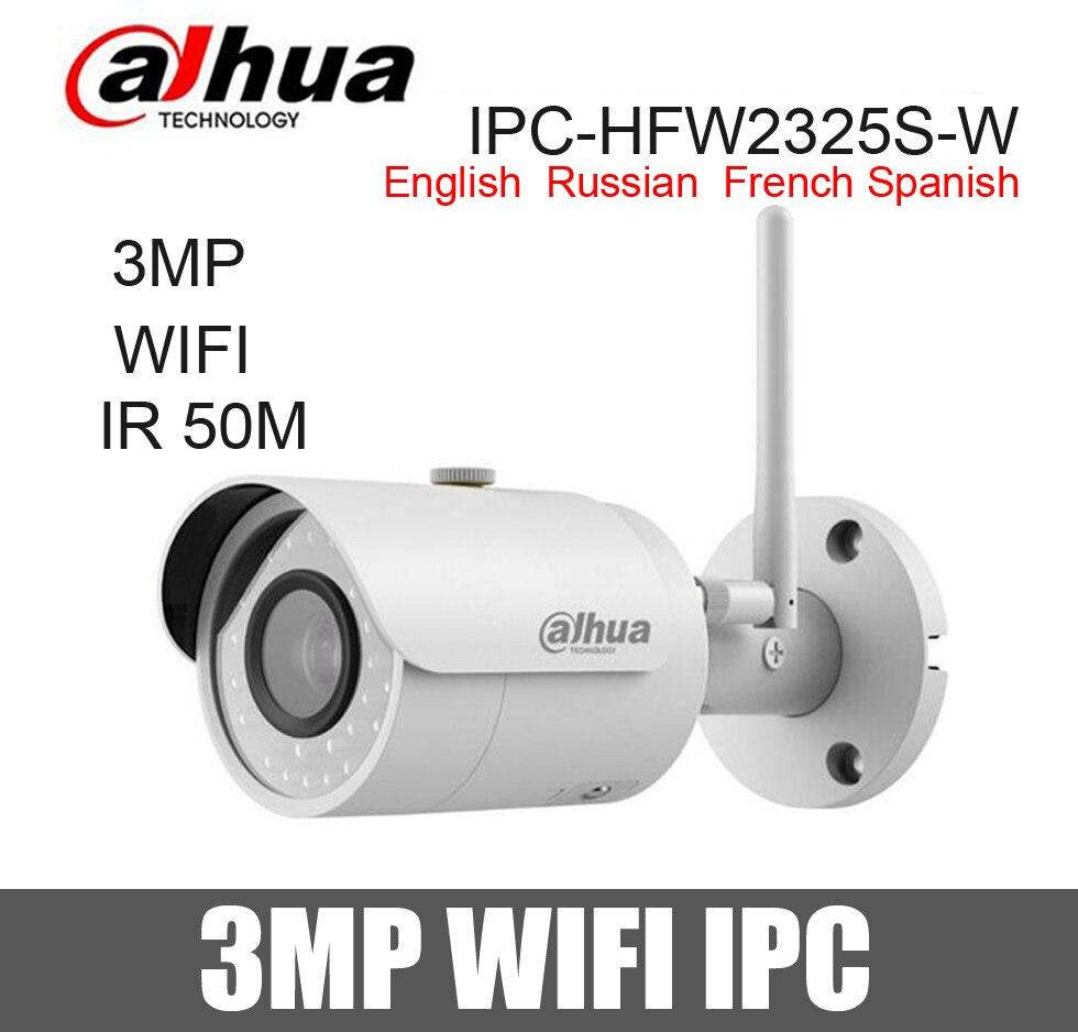 imágenes para Dahua 3MP Cámara IP wifi IPC-HFW2325S-W impermeable 50 m ir ranura para Tarjeta SD wireless Cámara de Red bullet reemplazar IPC-HFW1320S-W
