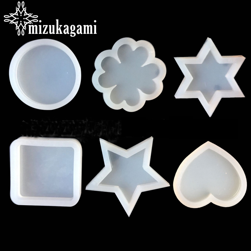 1pcs UV Resin Jewelry Liquid Silicone Mold Heart Star Round Clover Resin Charm Molds For DIY Intersperse Decorate Making Jewelry