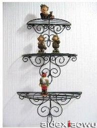 Struttura in ferro battuto mensola angolare rack di ferro for Scaffali in ferro battuto ikea