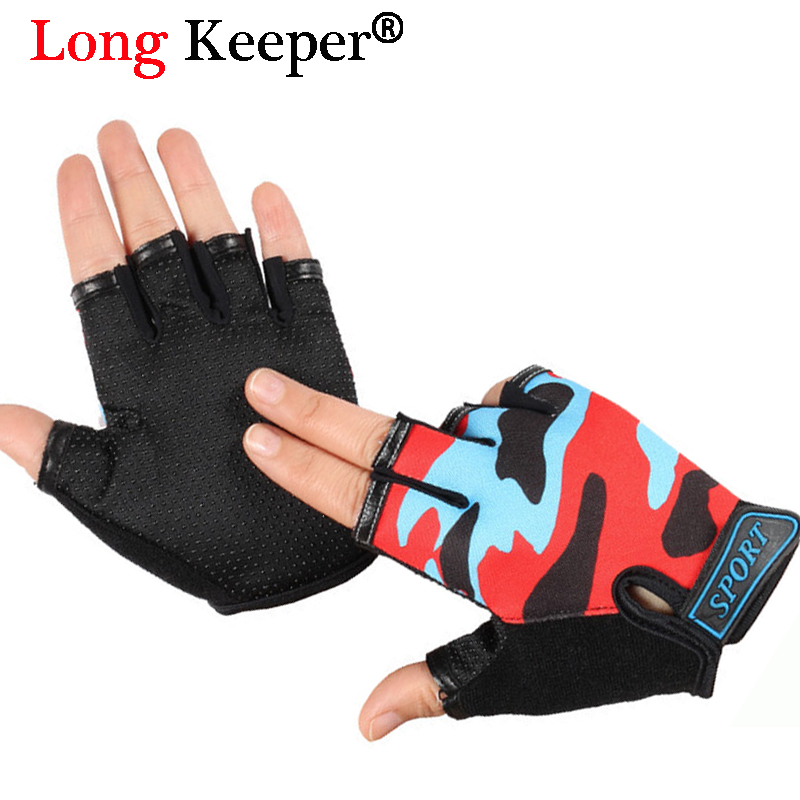 Long Keeper Kids Gloves for 4-12 Years Children Anti Skid Hot Sale Boys Girls Breathable Sports Gloves Fingerless Mittens Luvas ...