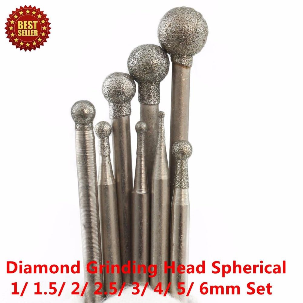 8 db-os gyémántcsiszolófej gömb alakú 1-6 mm-es készletben, - Csiszolószerszámok - Fénykép 5