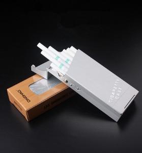Image 5 - Dame Zigarette Fall Aluminium Zigarre Box Tabak Halter Für Frauen Metall Tasche Lagerung Container Dünne Rauchen Zigarette Zubehör