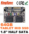 "Kingspec 1.8 ""el medio SATA III SSD SATA II 1.8 Módulo SSD 64 GB MLC 4-Channel Disco de Estado Sólido Para El Hogar HD Jugador, Tablet PC, UMPC"