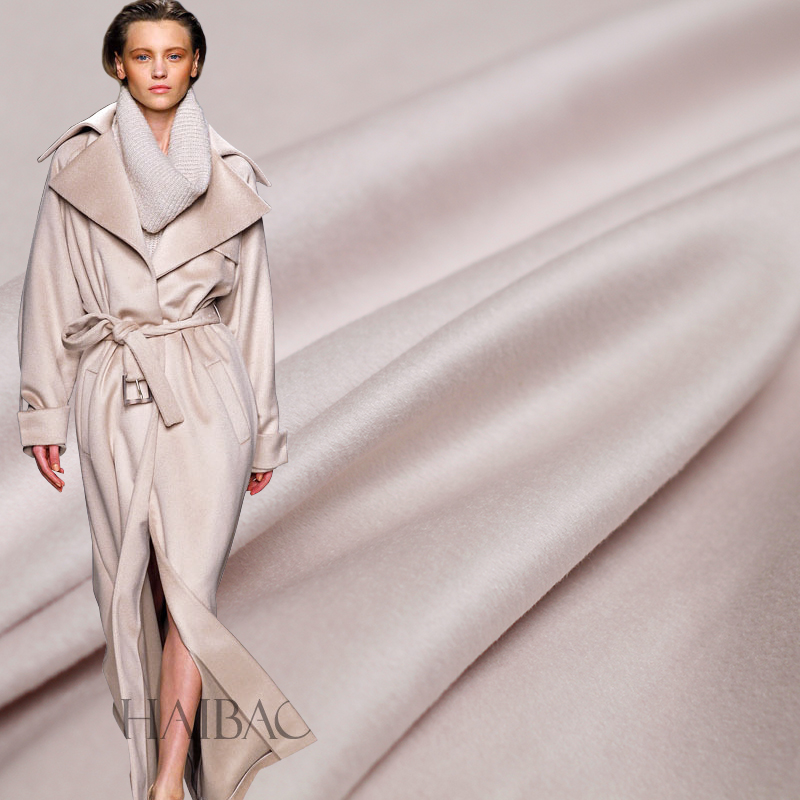 Перламутровый шелк кремового цвета двусторонний Кашемир и австралийская шерсть материалы для одежды зимнее пальто DIY Одежда ткани ppin