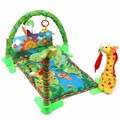 Baby Infant Play Mat Rainforest Musical Gym Melodies Lights Deluxe Activity Tummy Time Floor Crawl Playmat Toy Game Blanket