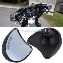 Black New Fairing Mount Rearview Mirror Hot Sale Fits For Harley Davidson Street Glide FLHX 10mm  1996-2013