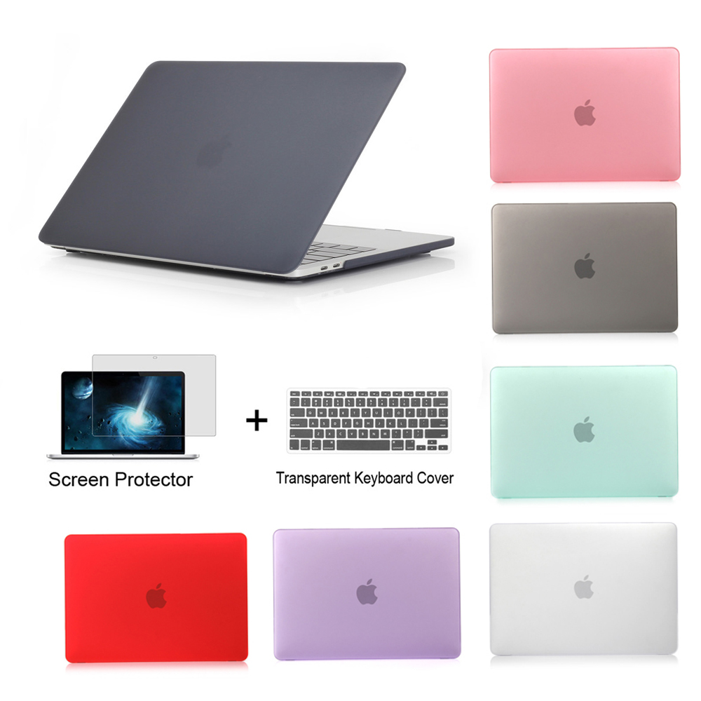 <font><b>laptop</b></font> Case housse For Mac Book Air 13case A1466 Pro Retina <font><b>11</b></font> 12 13 13.3 15 15.4 <font><b>inch</b></font> with Touch BarA1706 A1707+Keyboard Cover image